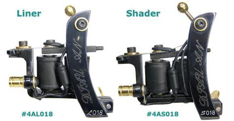 tattoo unterschied liner und shader 4al018 4as018 diauan steel tattoo machines