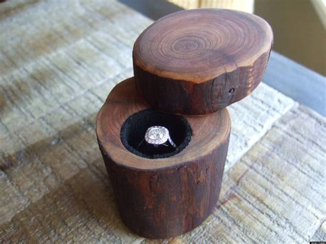 diy wood ring diy wedding engagement ring box made out of a tree branch photos huffpost