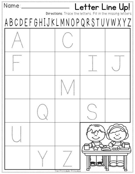 printable alphabet test for kindergarten printable alphabet test for kindergarten printable pages