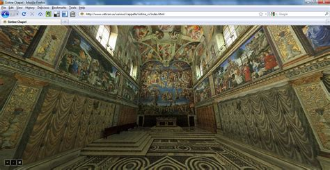 Sistine Chapel Ceiling Tour by Tour Of The Sistine Chapel On Vatican Website