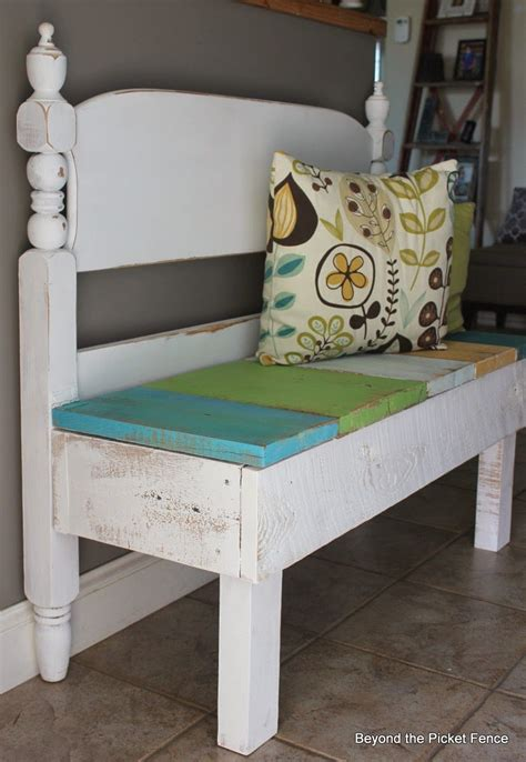making a bench from a headboard 25 headboard benches how to make your own fence styles
