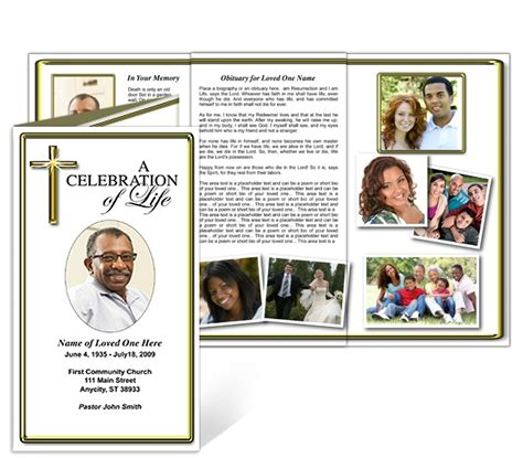 Free Funeral Brochure Templates by 43 Best Obituary Template Images On Free