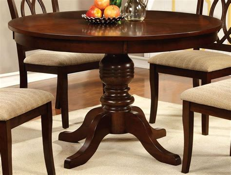 pedestal dining room table sets carlisle brown cherry round pedestal dining room set from