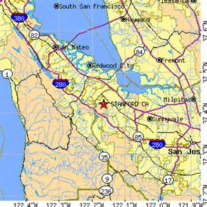 stanford california map stanford california ca population data races