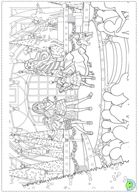 coloring pages of barbie christmas barbie christmas coloring pages freecoloring4u com