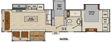 fifth wheel bunkhouse floor plans floor plan coachmen chaparral 360ibl fifth wheel bunk