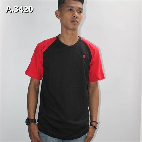 Kaos Oblong Three Second kaos volcom raglan a 3420 arief collection