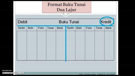 5 format buku digital format buku tunai 2 lajur youtube