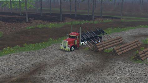cummins pickup bed log truck for fs15 farming simulator peterbilt log truck v1 0 187 gamesmods net fs17 cnc fs15