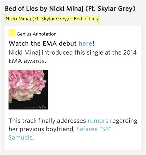 bed of lies lyrics bed of lies bed of lies by nicki minaj
