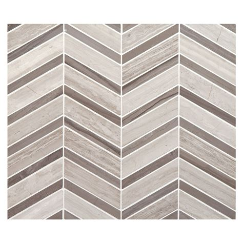neo chevron mosaic tile honed timestone blend