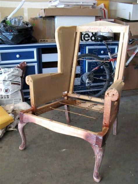 wingback chair upholstery tutorial diy basics upholstering a wingback chair sewing and
