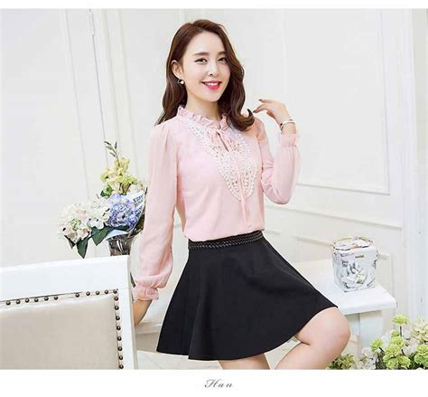 baju atasan pink lengan panjang 2016 model terbaru jual murah import kerja