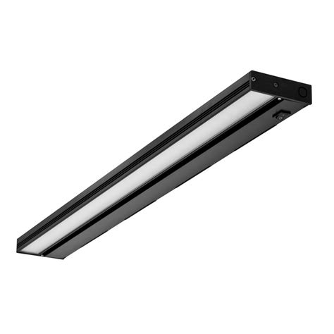 nicor led under cabinet lighting nicor nuc 30 in led black dimmable under cabinet light
