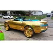 Gold N Teal Camaro SS Convertible On 30 Forgiatos HD