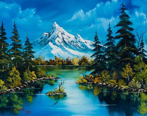 bob ross paintings auction reflections of fall painting bob ross reflections of