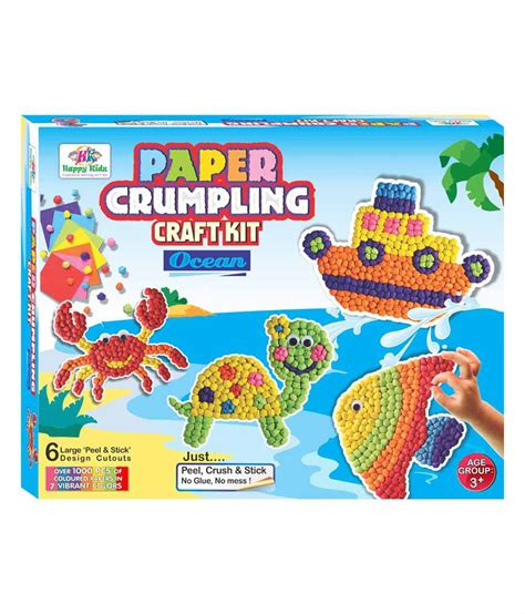 Paper Crumpling Craft - happy kidz craft toys paper crumpling craft kit