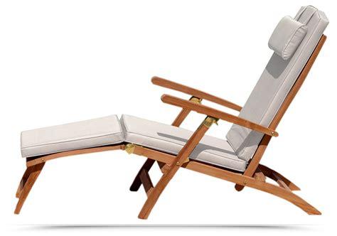 poltrona sdraio poltrona sdraio in legno teak reclinabile con cuscino