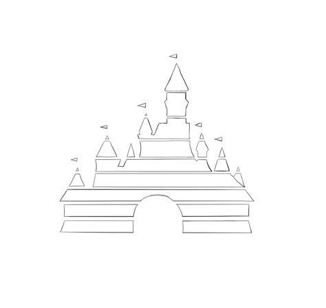 Disney World Castle Outline by Disney Castle Logo Clipart Clipart Suggest
