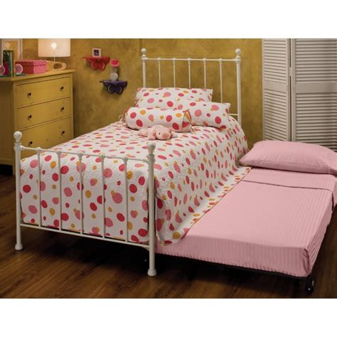 spindle bed twin hawthorne collections twin metal spindle bed with trundle