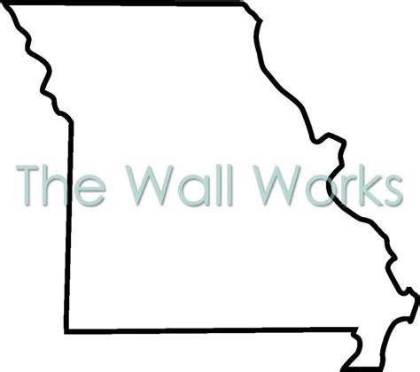 Missouri State Outline by Missouri Outline Wall Sticker Vinyl Decal The Wall Works