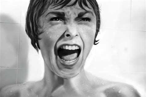 Psycho Shower by Janet Leigh From Psycho Wallpaper