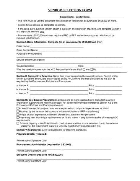 Sample Procurement Policy Free Download