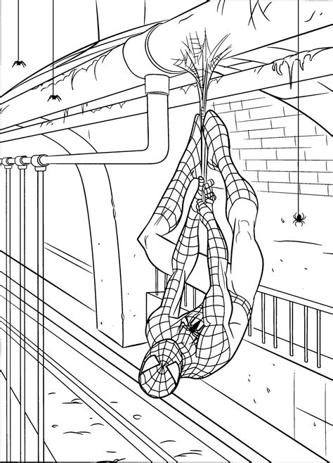 coloring pages spiderman online free printable spiderman coloring pages for kids