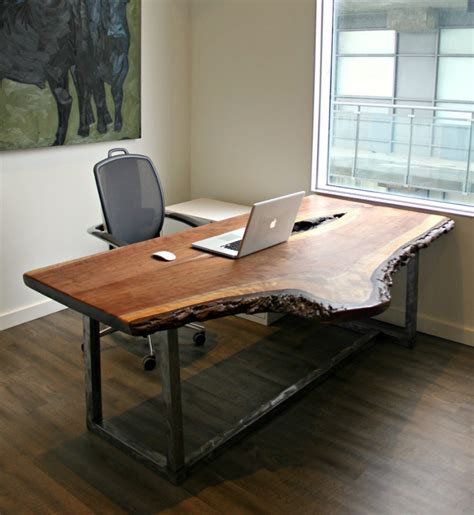 distressed wood computer desk your office more eco with a reclaimed wood desk