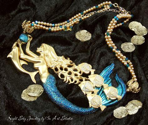 how to make mermaid jewelry mermaid jewelry galleon mermaid necklace