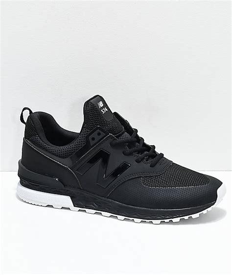 Nb Numeric Black White new balance numeric 574 sport black white shoes zumiez