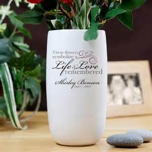 Memorial Flower Vases Personalized Life And Love Memorial Ceramic Flower Vase