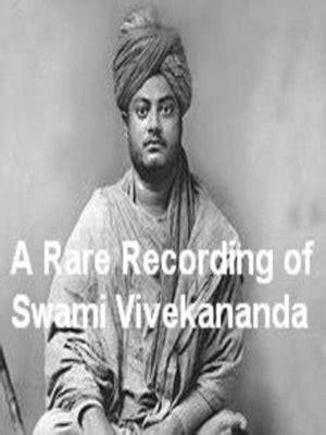 vivekananda biography ebook a rare recording of swami vivekananda by swami vivekananda