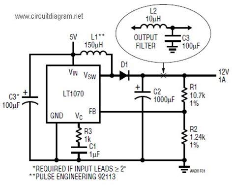 dc dc boost converter circuit diagrams 5v to 12v dc boost converter schematic design