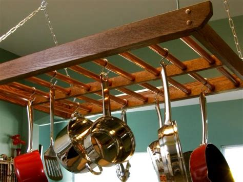 Overhead Pot And Pan Holder How To Build A Hanging Pot Rack How Tos Diy