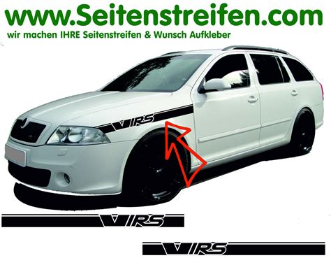 Decal Striping Sticker Klx 041 Glossy skoda octavia ii 1z vrs rs bonnet stripe sticker