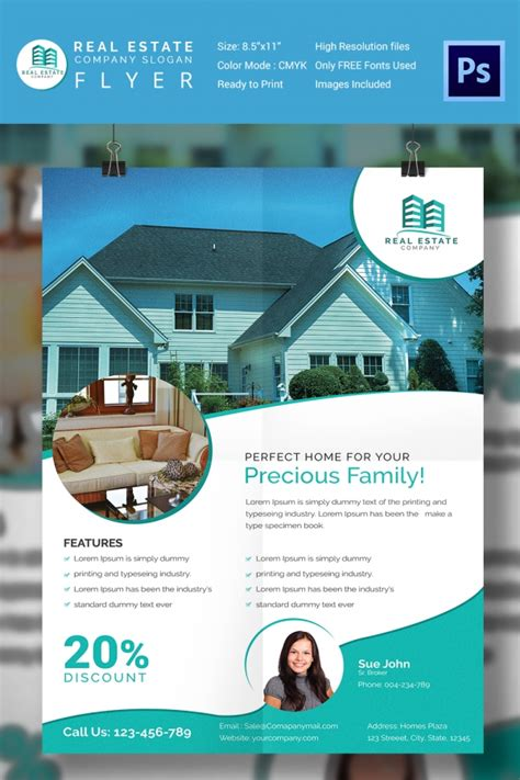 15 Stylish House For Sale Flyer Templates Designs House For Sale Ad Template