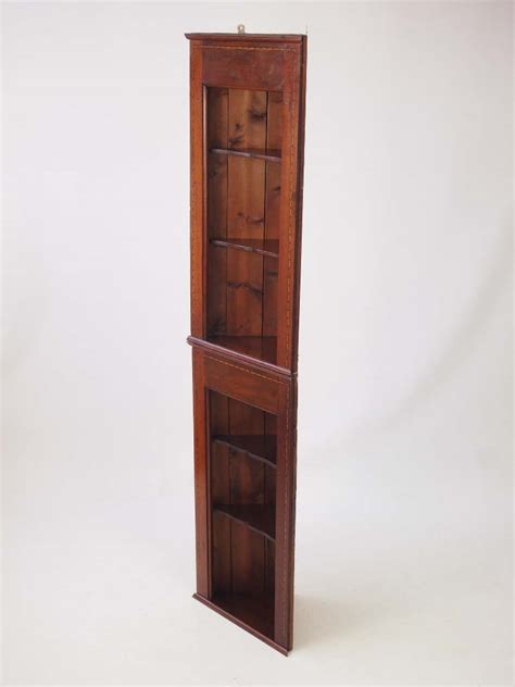cabinet with shelf unit pair edwardian hanging corner cabinets tall shelf unit