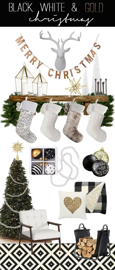 xmas trends for holiday decor 2016 remodelaholic a black white and gold christmas