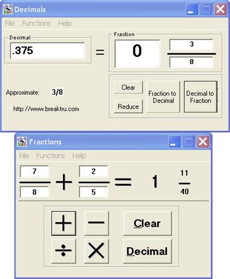 calculator decimal ona munson how to convert a decimal to fraction