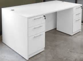 white executive office desk white 4 office furniture package