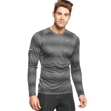 Bajukaost Shirt Nike Slevee 1 lyst nike miler longsleeve drifit running shirt in gray for