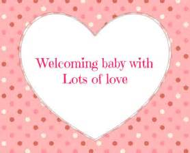 baby shower message greeting card welcoming baby with lots of click to