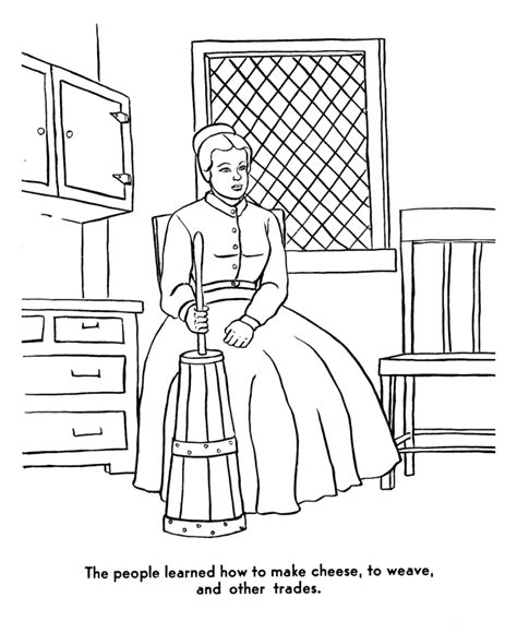pilgrim house coloring page coloring pages of pilgrims coloring home