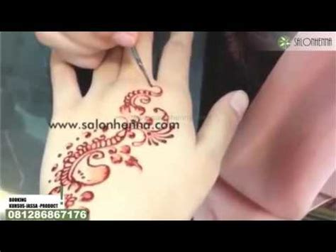 youtube membuat henna buat henna tangan perview cara membuat henna model bunga