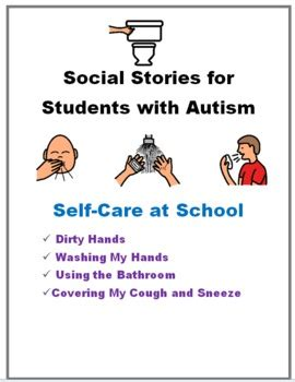 social story using the bathroom at school social stories for students with autism self care by