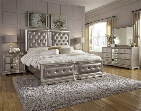 couture queen button tufted upholstered panel bed