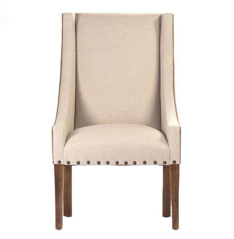 Burlap Dining Chairs Shipley Country Burlap Two Tone Dining Arm Chair Kathy Kuo Home