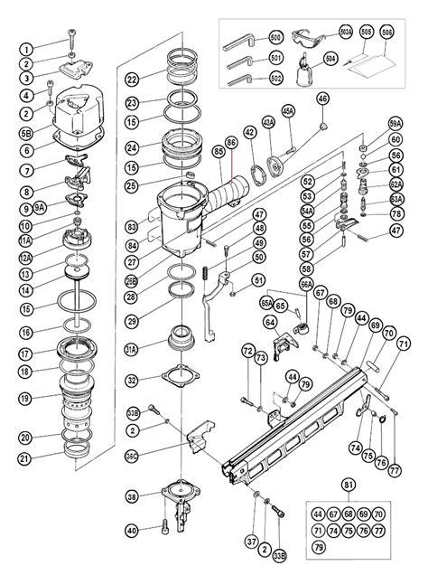 hitachi nail gun parts diagram aftermarket hitachi nail gun parts nail ftempo