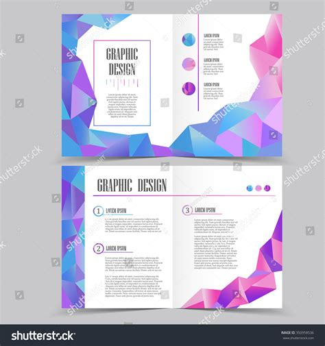 beautiful halffold brochure template design crystal stock